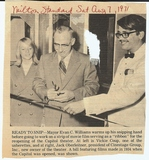 Capitol re-opening ad, August, 1972. Ribbon/film cutting.