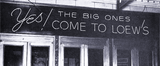 <p>Detail shot of a new electric sign placed above the entry of the Loew's Rochester in Syracuse in 1945.</p>