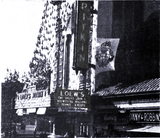 <p>1945 exterior shot of the Loew's Pitkin Theatre in Brooklyn</p>