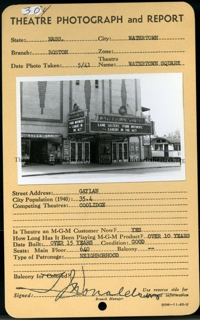 Watertown Square Theatre