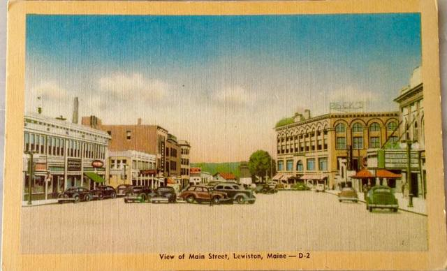 Circa 1940 postcard via Jeanne Myrand Young.