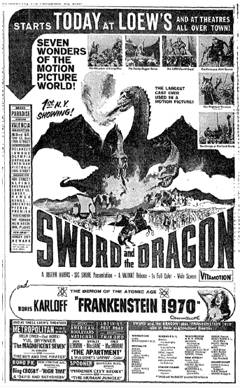 SWORD AND THE DRAGON(1960)