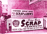 <p>Loew's Rochester Theatre uses a spare lot adjoining the theatre to host a scrap drive in 1942.</p>