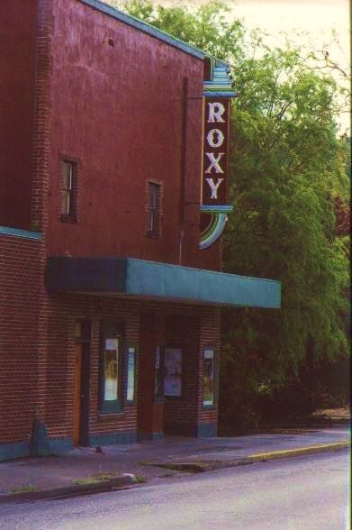 Front of theater