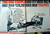 """The Odd Couple"" Trade paper ad for Radio City Music Hall engagement"