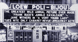 "<p>Great front by the Loew's Poli-Bijou in 1940 for ""Frank Buck's Jungle Calvalcade"" playing in New Haven.</p>"