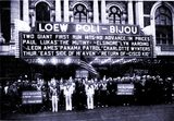 "<p>The New Haven Sea Scouts are invited to help promote ""Mutiny on the Elsinore"" playing at the Loew's Poli-Bijou in 1939</p>"