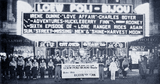 "<p>Loew's Poli-Bijou Manager Bill Elder strikes up the band in 1939 in New Haven to promote ""Love Affair"" and ""Huck Finn"" playing there.</p>"
