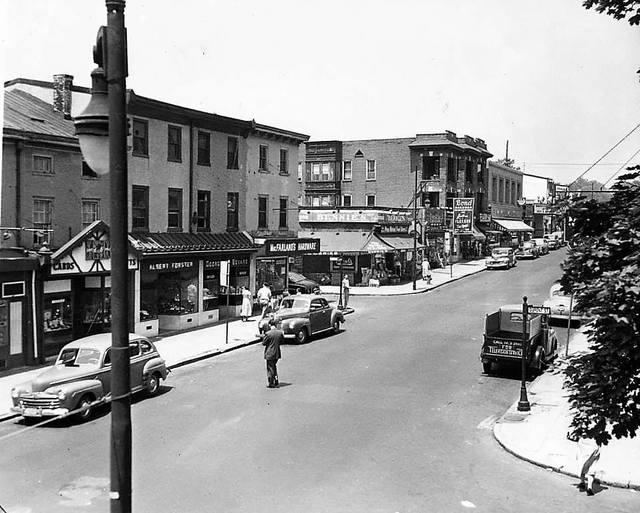 Ridge Avenue from Dupont Street 1951, via Raymond Storey.