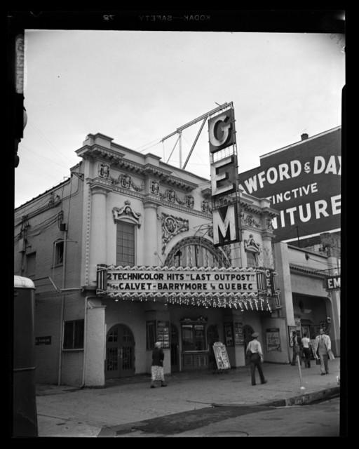 Gem Theatre on August 3, 1951