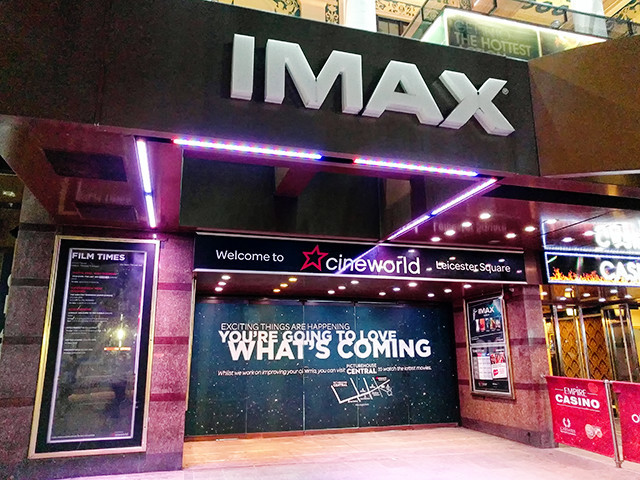 Cineworld/Empire Leicester Square Closed for Refurbishment