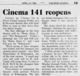 Cinema 141 Reopens