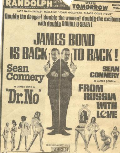 JAMES BOND DOUBLE FEATURE