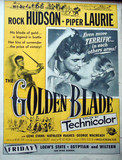 """The Golden Blade"" Trade paper ad for the State & Egyptian and Wiltern opening in Los Angeles."