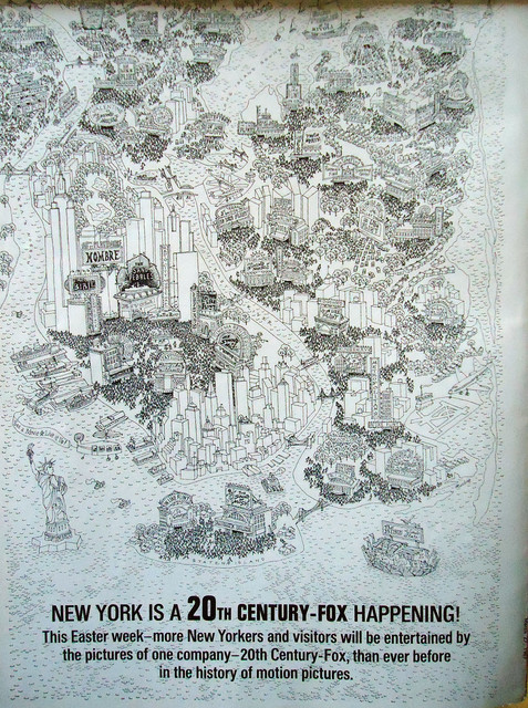 20th Century-Fox Trade paper ad of what was playing in NYC
