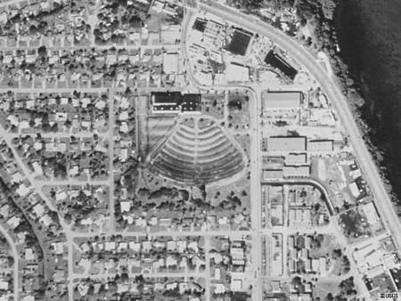 Aerial Photo of the Brevard Drive In Theater.