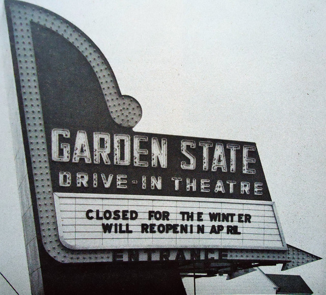 Garden State Drive-In theatre marquee