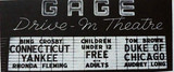 Gage Drive-In marquee sign