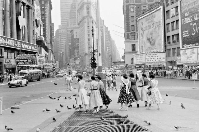 1955 photo via Al Ponte's Time Machine-New York Facebook page