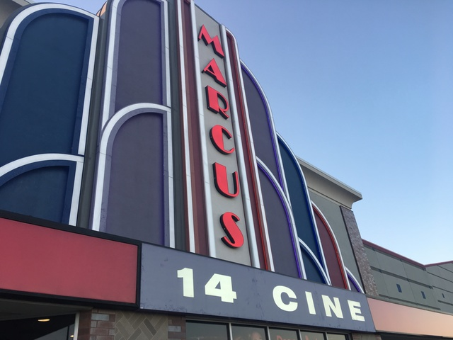 Marcus 14 Cine Banner at Day