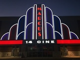 Marcus 14 Cine Banner at Night