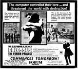 COLOSSUS ,THE FORBIN PROJECT
