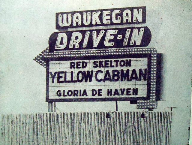 Waukegan Drive-In marquee