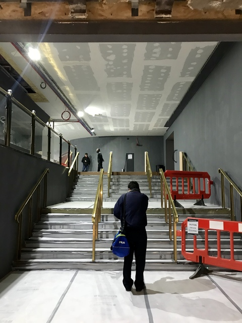 Entrance to cinema during refurb