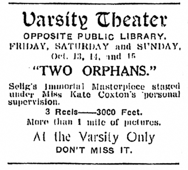 Ad from October, 1911