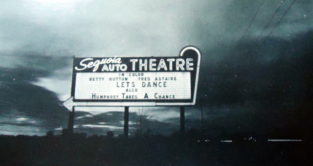 Sequoia Auto Theatre marquee sign
