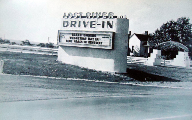 Lost River Drive-In marquee sign