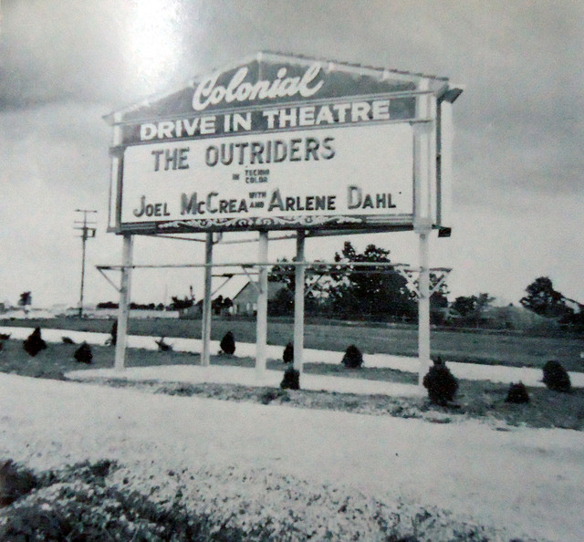 Colonial Drive-In marquee sign