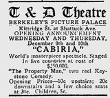 Berkeley Gazette December 8, 1914
