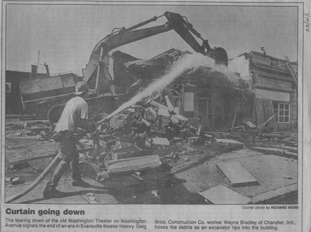 Washington demolition, to make way for a bank branch.