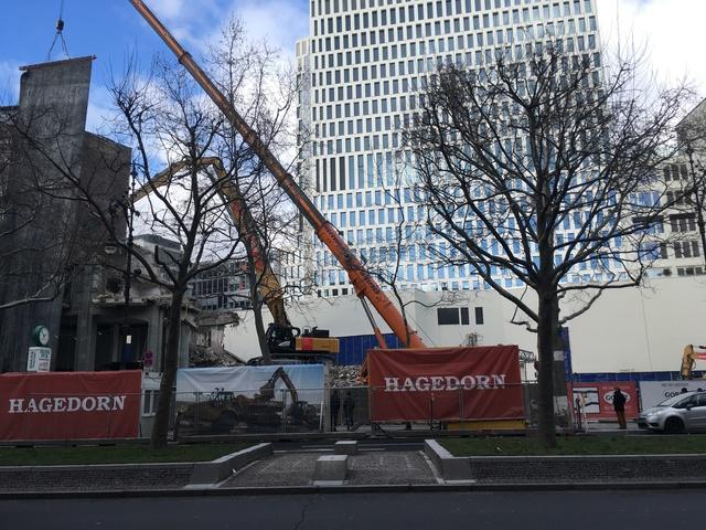 Gloria Palast Berlin demolition Feb 2018