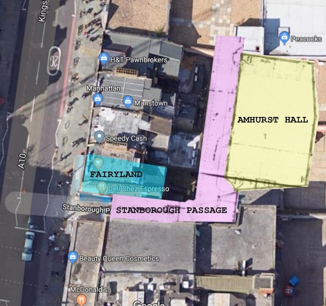 Amhurst Hall cinema map