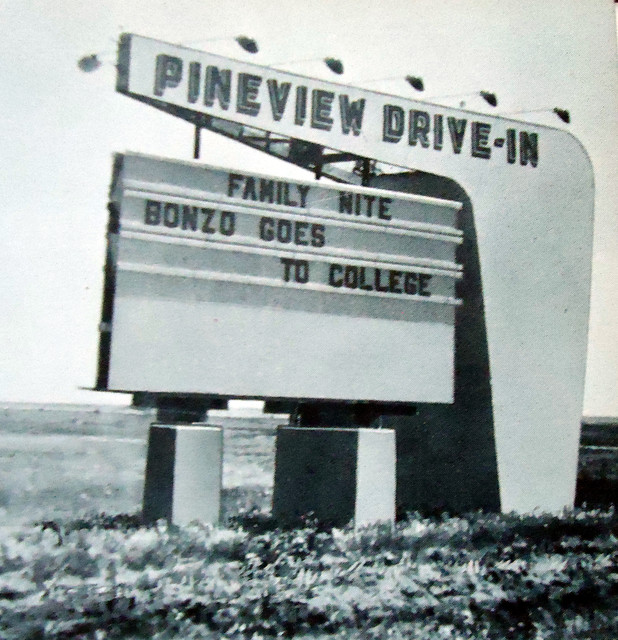 Pineview Drive-In exterior marquee