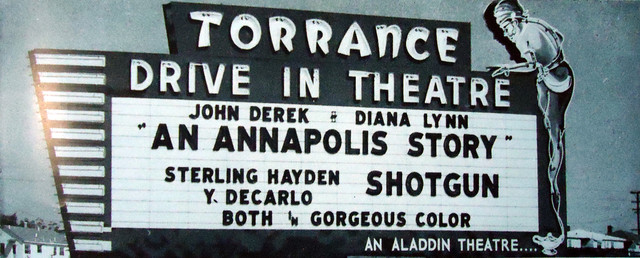 Torrance Drive-In marquee sign