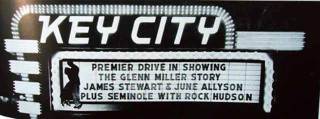 Key City Drive-In marquee sign