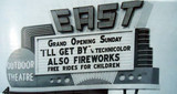 East Outdoor Theatre marquee sign