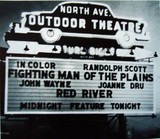 North Avenue Outdoor Theatre marquee sign