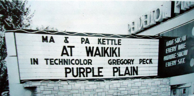 Pendelton Pike Drive-In marquee sign