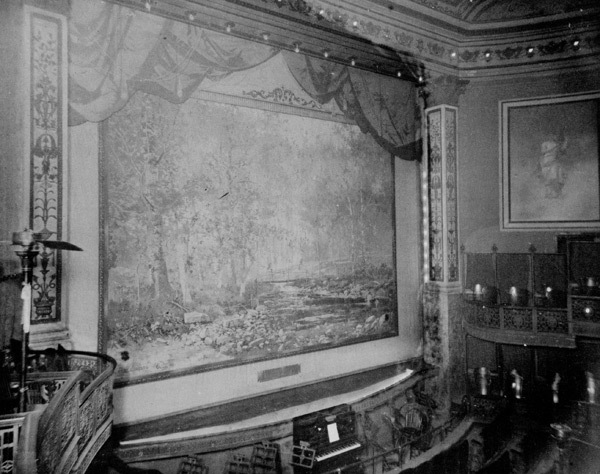 Interior of the Lyceum theatre published before demolition in 1935.