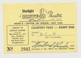 Courtesy Pass from Starlight Drive-In