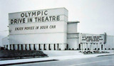 Olympic Drive-In exterior (Before the remodel with surfer mural)