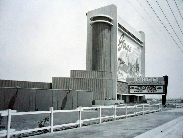 Gage Drive-In exterior marquee sign