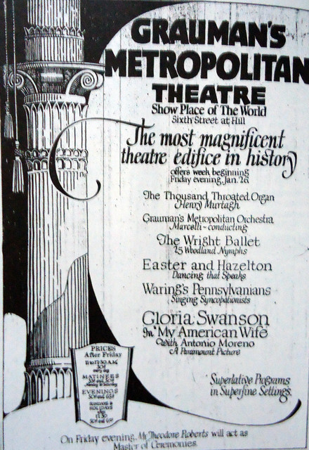 Metropolitan Theatre ad