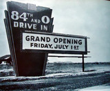 84th & O Drive-In marquee sign