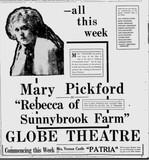 Globe Theatre November 4 1917