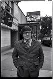 <p>Here is a 1971 photo of Roger Ebert standing in front of the Playboy Theatre.</p>